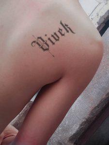 vivek name tattoo